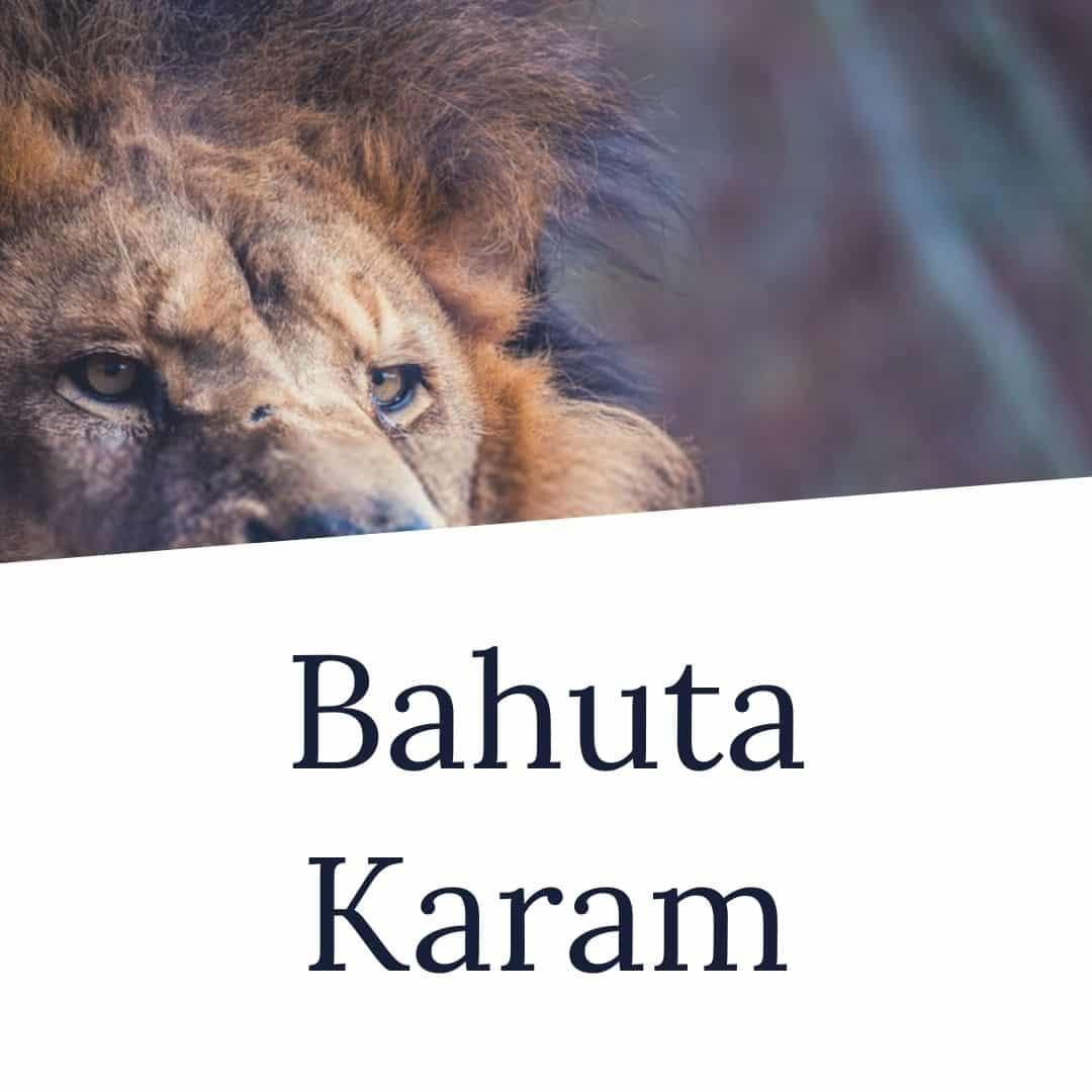 bahuta karam